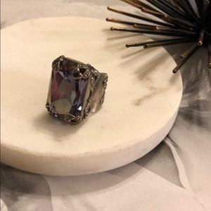 Sorrelli Purple Lotus Statement Ring